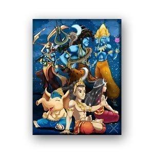Hindu Avatars – Canvas Print